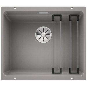 Blanco ETAGON 500-U ALUMETALLIC Silgranit Single Bowl Undermount Sink BL468141 – ALUMETALLIC