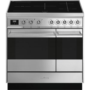Smeg SY92IPX9 90cm Symphony Pyrolytic Induction Range Cooker – STAINLESS STEEL