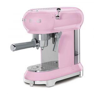 Smeg ECF01PKUK Freestanding Retro Espresso Coffee Machine – PINK
