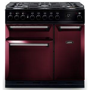 AGA Masterchef MDX90DFCBY Masterchef Deluxe 90cm Dual Fuel Range Cooker 121240 – CRANBERRY