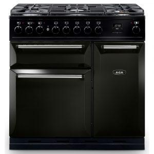 AGA Masterchef MDX90DFPWT Masterchef Deluxe 90cm Dual Fuel Range Cooker 122140 – PEWTER