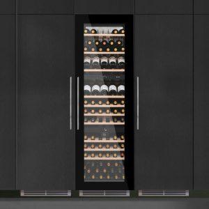 Caple WC1796 179cm Integrated In Column Triple Zone Wine Cooler – BLACK