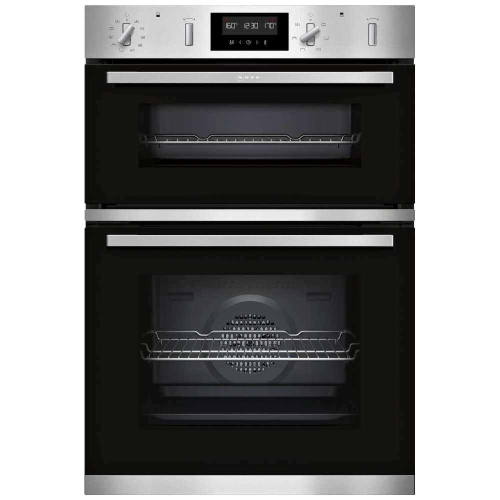 Neff U2gch7an0b N50 Pyrolytic Circotherm Built In Double Oven Stainless Steel