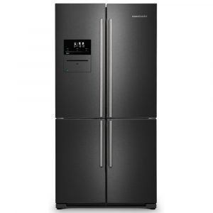 Rangemaster RSXS19DI/C French Style Four Door Fridge Freezer With VSeal – DARK INOX