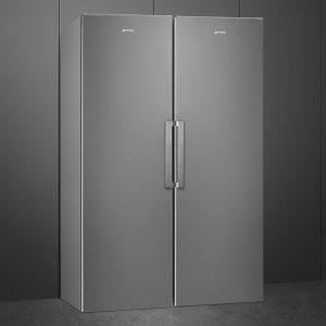 Smeg UK402PX UK282PXNF Larder Fridge And Frost Free Freezer Pack – STAINLESS STEEL