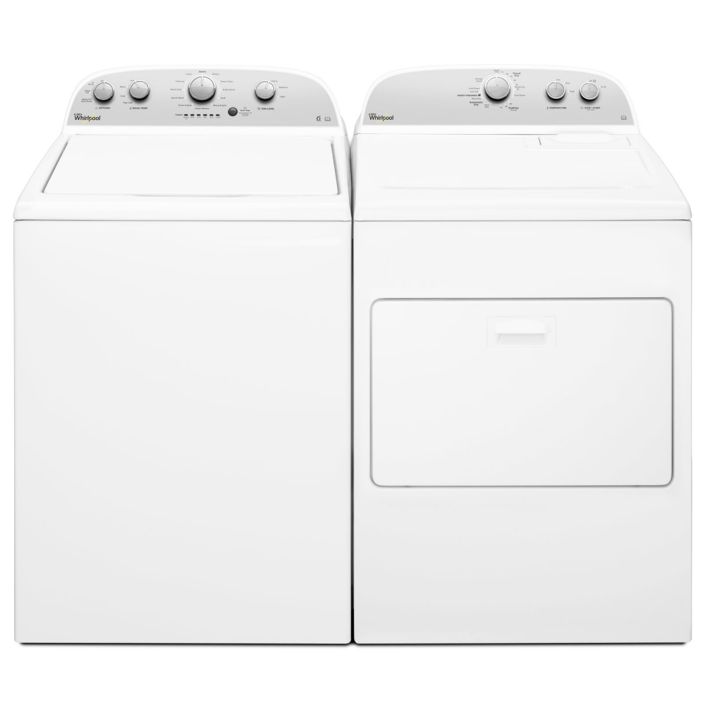 Whirlpool 3LWTW4815FW 3LWED4815FW 15kg American Washing Machine And Dryer Pack - WHITE