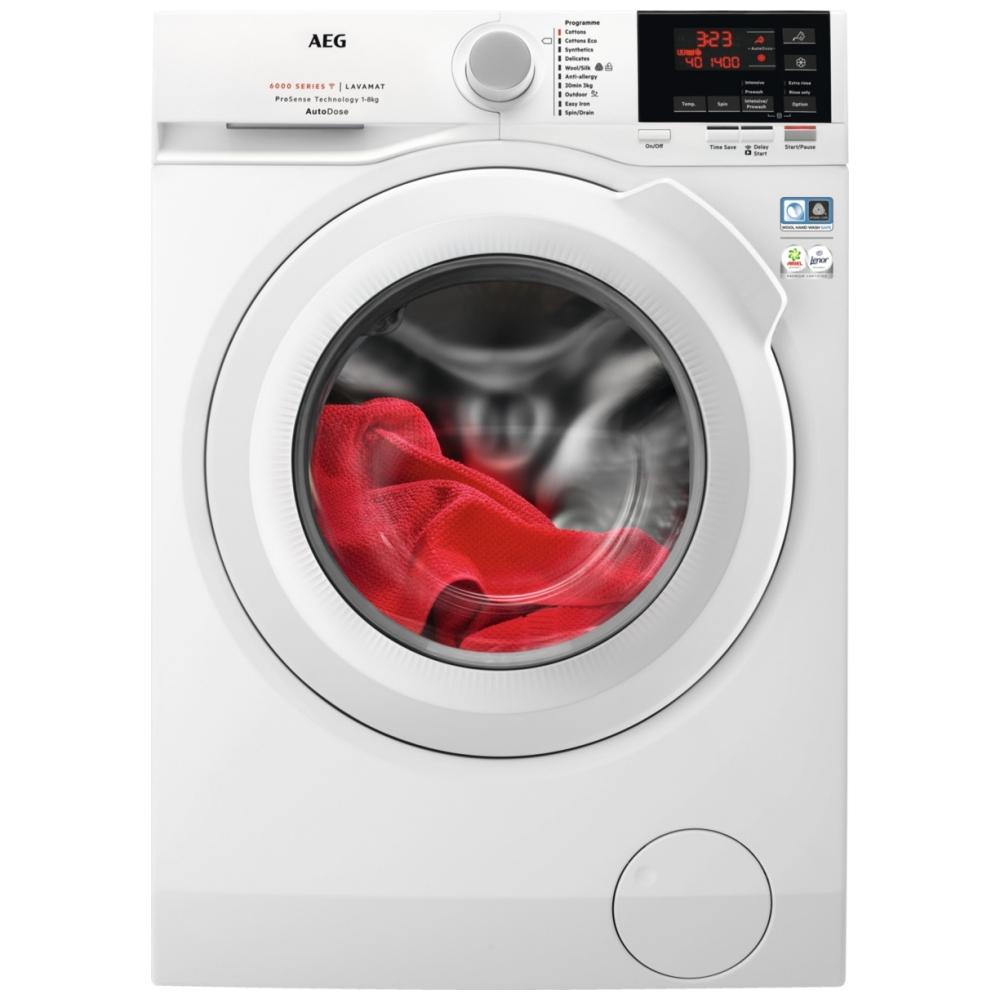 AEG L6FBG841CA 8kg AutoDose Washing Machine 1400rpm - WHITE