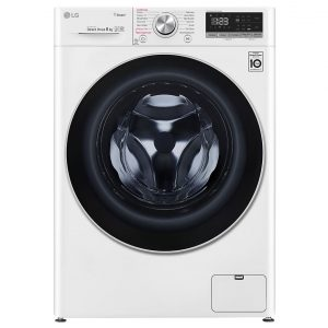 LG F4V508WS 8kg Steam Washing Machine 1400rpm – WHITE