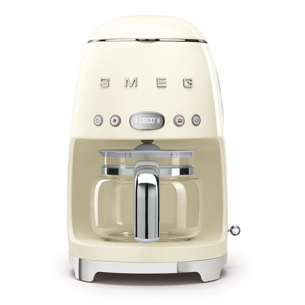 Smeg DCF02CRUK Freestanding Retro Drip Filter Coffee Machine - CREAM