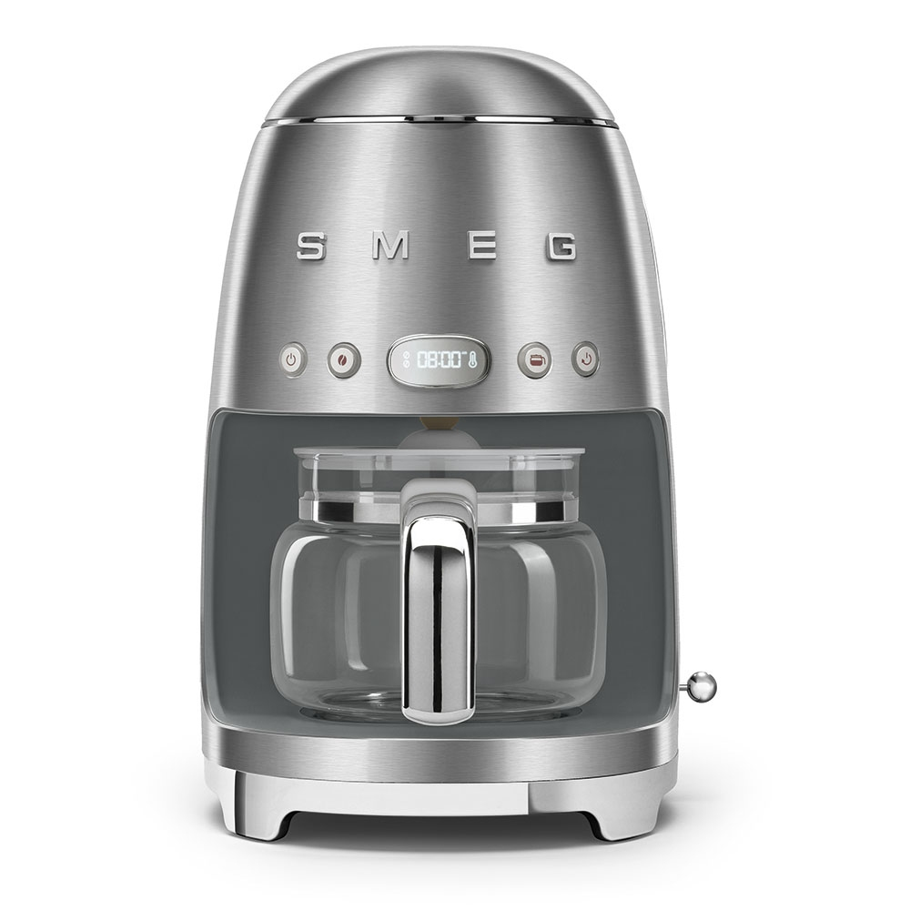 Smeg DCF02SSUK Freestanding Retro Drip Filter Coffee Machine - STAINLESS STEEL