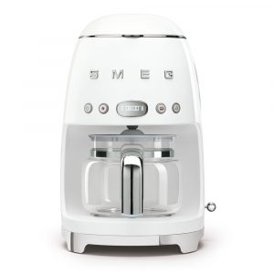 Smeg DCF02WHUK Freestanding Retro Drip Filter Coffee Machine – WHITE