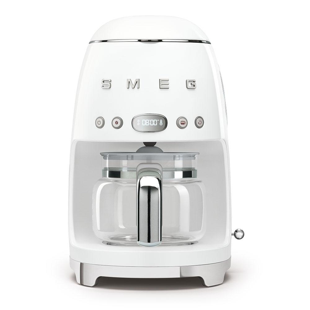 Smeg DCF02WHUK Freestanding Retro Drip Filter Coffee Machine - WHITE
