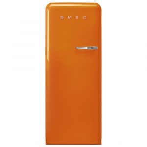 Smeg FAB28LOR3 60cm Retro Refrigerator Left Hand Hinge – ORANGE