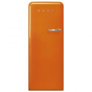 Smeg FAB28LOR3 60cm Retro Refrigerator Left Hand Hinge – ORANGE