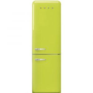 Smeg FAB32RLI3 60cm Retro Frost Free Fridge Freezer Right Hand Hinge – LIME GREEN