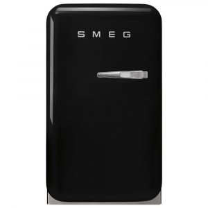 Smeg FAB5LBL3 Black Retro Mini Bar Fridge Left Hand Hinge – BLACK