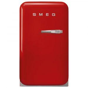 Smeg FAB5LRD3 40cm Retro Mini Bar Fridge Left Hand Hinge – RED
