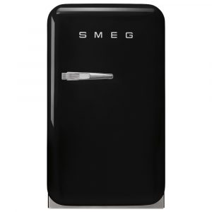 Smeg FAB5RBL3 Black Retro Mini Bar Fridge Right Hand Hinge – BLACK