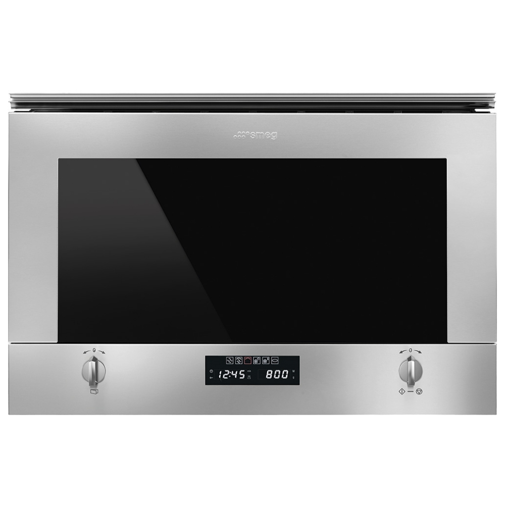 Smeg MP422X1 Built In Cucina Microwave And Grill For Wall Unit - STAINLESS STEEL