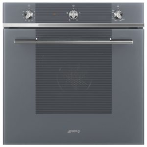 Smeg SF61M3GVS Linea Single Gas Multifunction Oven – SILVER