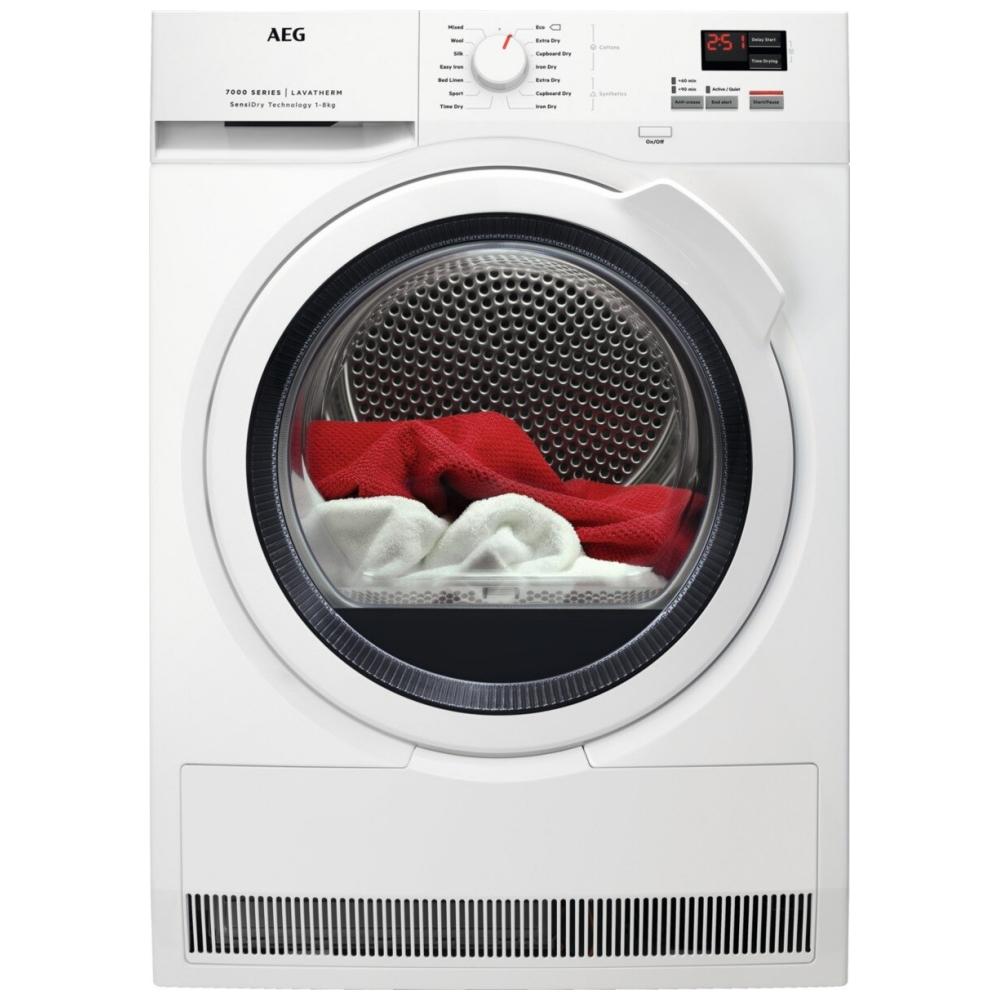 AEG T7DBK841N 8kg Heat Pump Condenser Tumble Dryer - WHITE