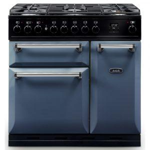 AGA Masterchef MDX90DFDAR Masterchef Deluxe 90cm Dual Fuel Range Cooker – DARTMOUTH BLUE