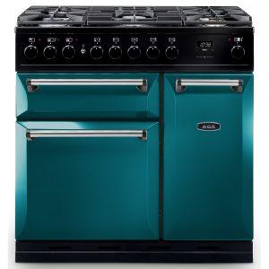 AGA Masterchef MDX90DFSAL Masterchef Deluxe 90cm Dual Fuel Range Cooker – SALCOMBE BLUE