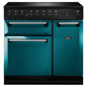 AGA Masterchef MDX90EISAL Masterchef Deluxe 90cm Induction Range Cooker – SALCOMBE BLUE