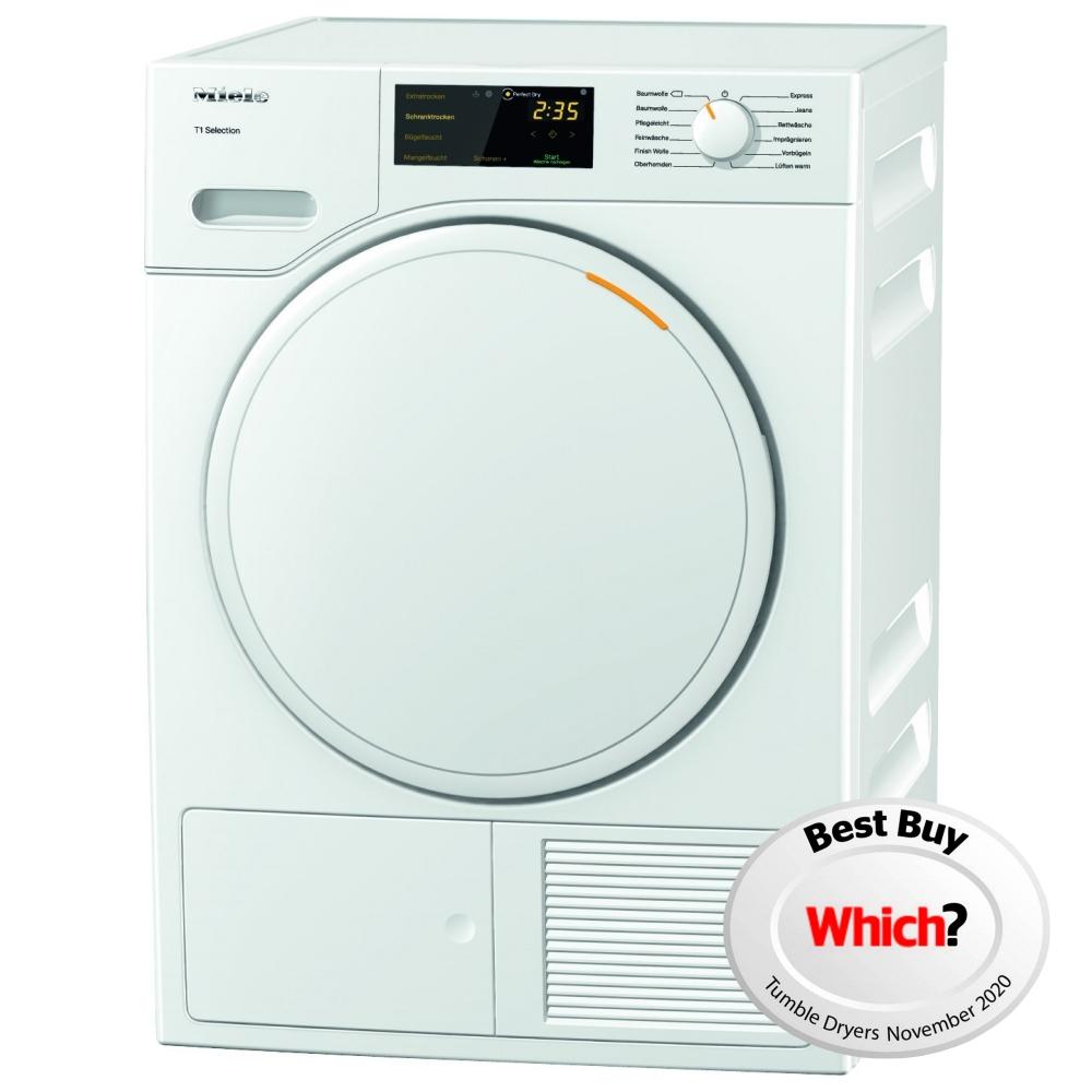 Miele TSB143WP 7kg Heat Pump Condenser Tumble Dryer - WHITE