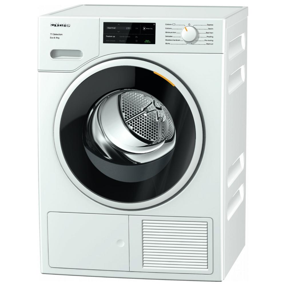 Miele TSJ663WP 9kg Heat Pump Condenser Tumble Dryer - WHITE