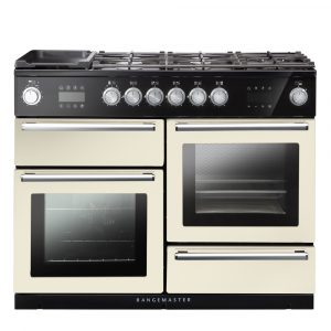 Rangemaster NEX110SODFFIV/C Nexus 110 Dual Fuel Range Cooker With Steam – IVORY