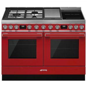 Smeg CPF120IGMPR 120cm Portofino Pyrolytic Dual Fuel Range Cooker – RED