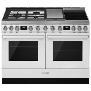 Smeg CPF120IGMPWH 120cm Portofino Pyrolytic Dual Fuel Range Cooker – WHITE