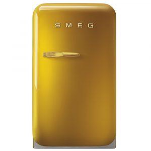 Smeg FAB5RGO 40cm Retro Mini Bar Fridge Right Hand Hinge – GOLD