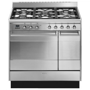 Smeg SUK92MX9-1 90cm Dual Fuel Twin Range Cooker – STAINLESS STEEL