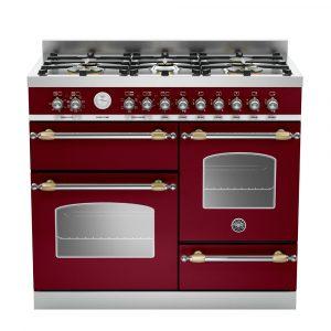 Bertazzoni HER100-6-MFE-T-VIT 100cm Heritage XG Dual Fuel Range Cooker – BURGUNDY