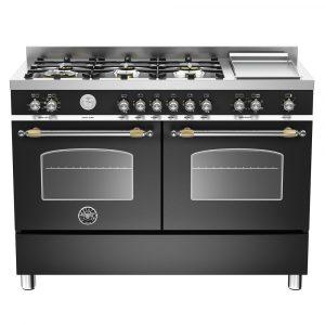 Bertazzoni HER120-6G-MFE-D-NET 120cm Heritage Dual Fuel Range Cooker – BLACK