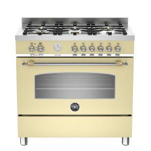 Bertazzoni HER90-6-MFE-S-CRT 90cm Heritage Dual Fuel Range Cooker – CREAM