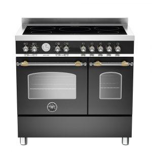 Bertazzoni HER90-5I-MFE-D-NET 90cm Heritage Induction Twin Range Cooker – BLACK