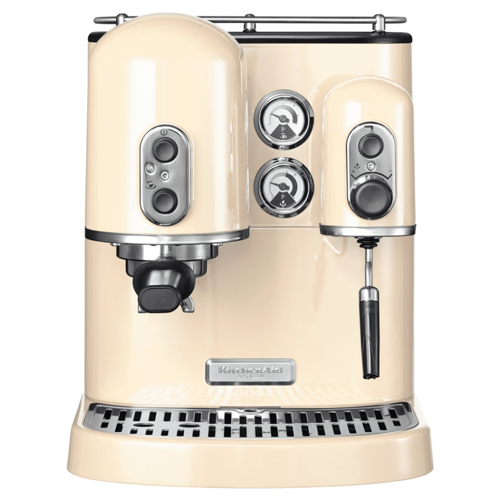 Kitchenaid 5kes2102bac Freestanding Artisan Espresso Coffee Machine Almond Cream