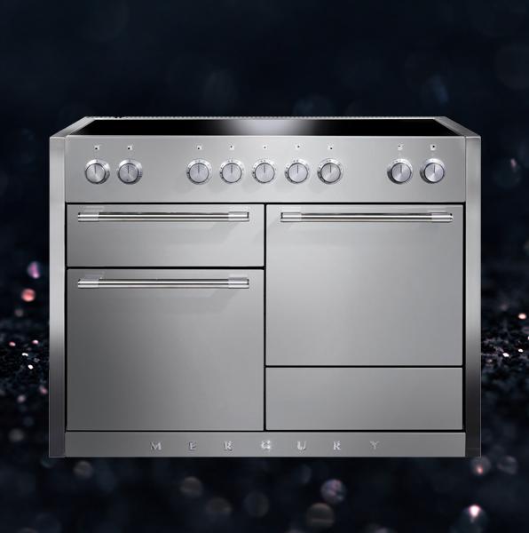 Mercury 120cm wide induction range cooker