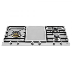 Bertazzoni PM3630GX 90cm Professional Series Mixed Gas And Ceramic Hob – STAINLESS STEEL