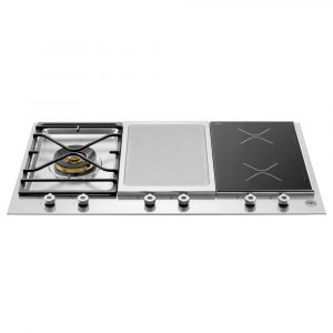 Bertazzoni PM3631IGX 90cm Professional Mixed Gas Ceramic Induction Hob – STAINLESS STEEL
