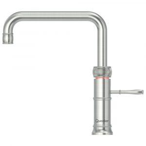Quooker COMBI 2.2 CLASSIC FUSION SQUARE SS 2.2CFSRVS Combi Classic Fusion Square 3-in-1 Boiling Water Tap – STAINLESS STEEL