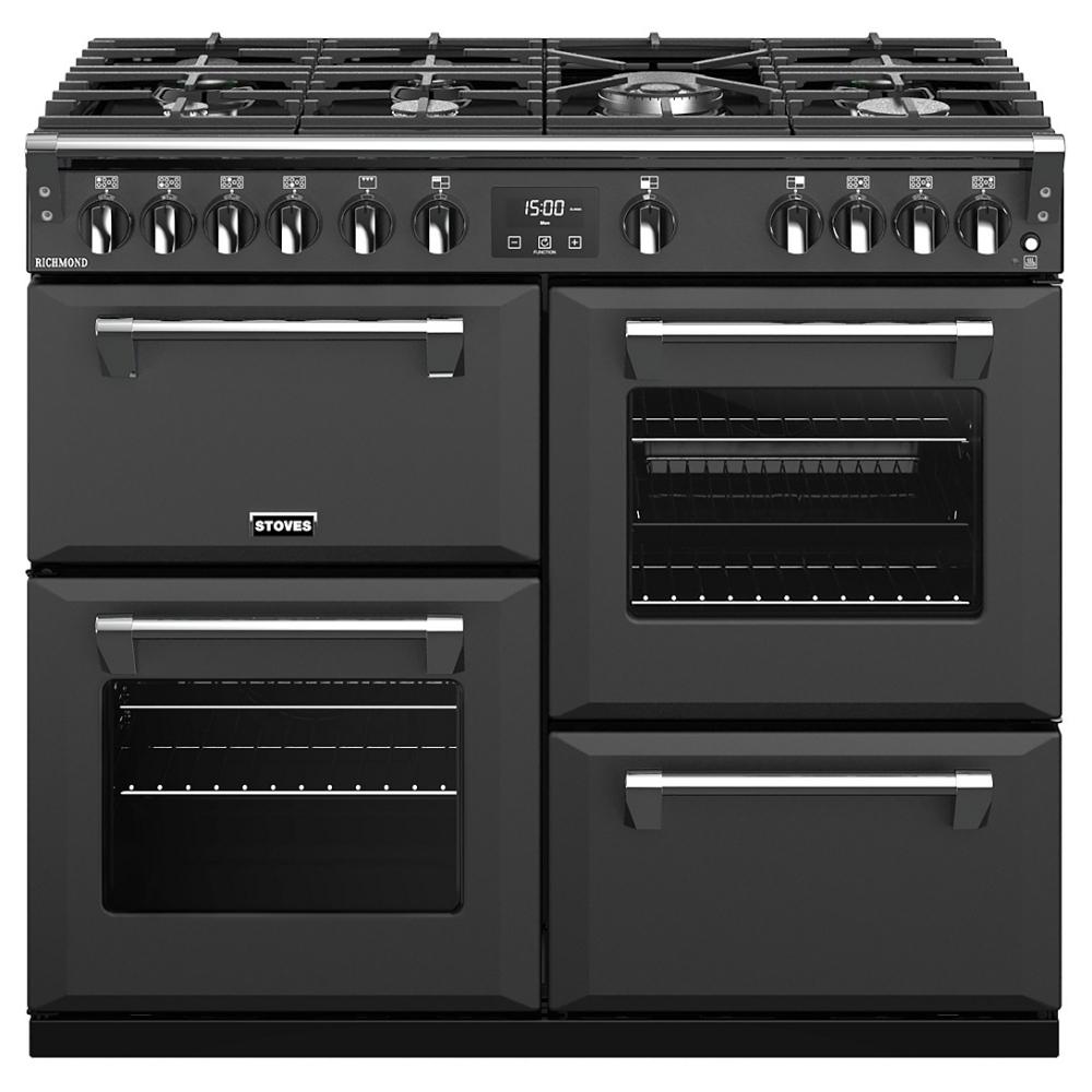 Stoves RICHMOND S1000GANT 10802 Richmond 100cm Gas Range Cooker - ANTHRACITE