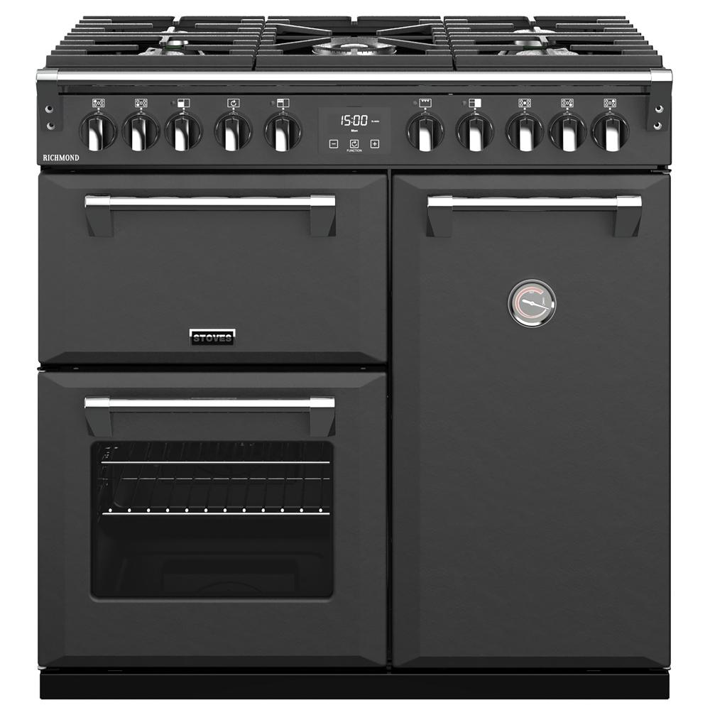 Stoves RICHMOND S900DFANT 10252 Richmond 90cm Dual Fuel Range Cooker - ANTHRACITE