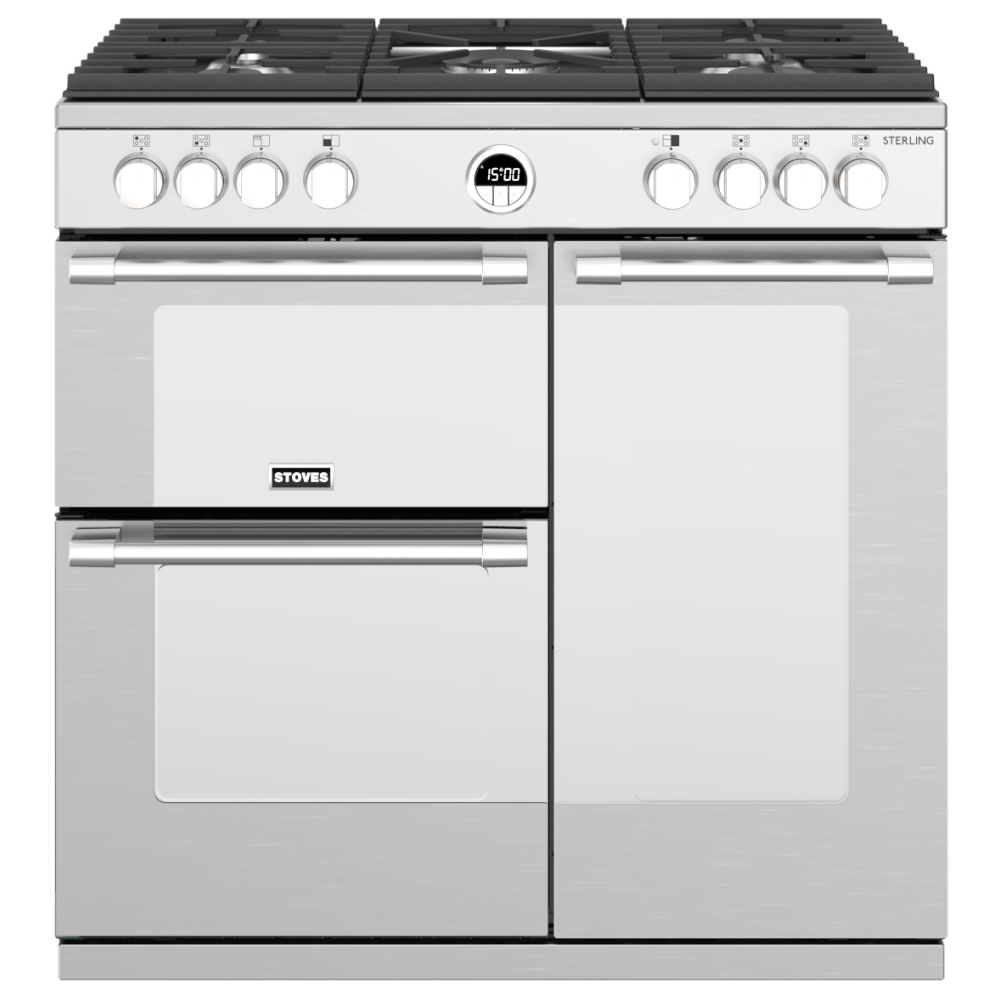 Stoves STERLING S900GSS 10807 Sterling 90cm Gas Range Cooker - STAINLESS STEEL