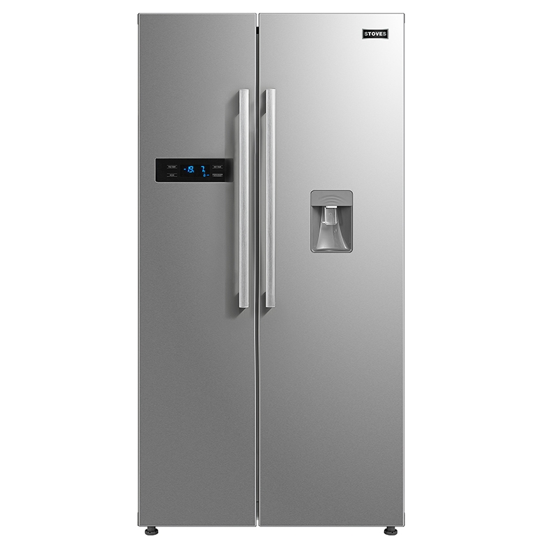 Stoves SXS909WTDSTA American Fridge Freezer With Water Dispenser Non Plumbed - STAINLESS STEEL