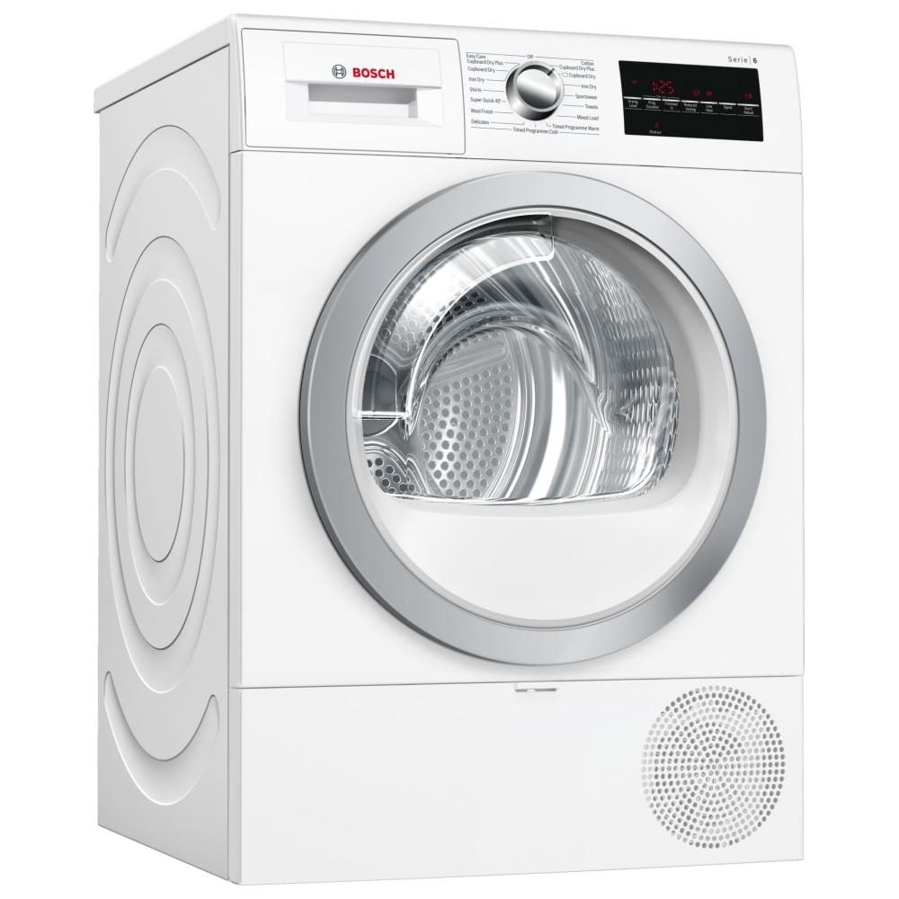 Bosch WTR88T81GB 8kg Serie 6 Heat Pump Condenser Tumble Dryer - WHITE