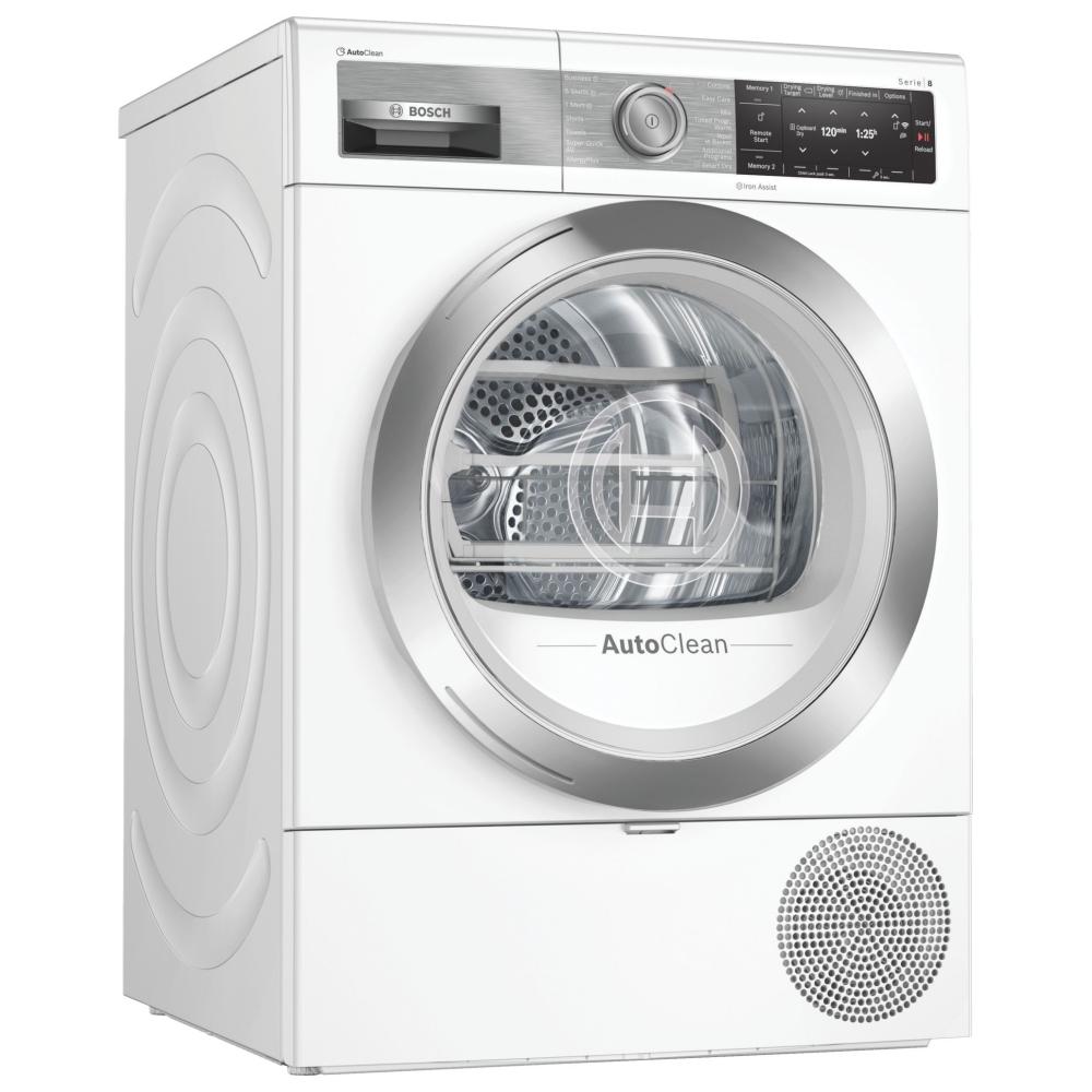 Bosch WTX88EH9GB 9kg Serie 8 Heat Pump Condenser Tumble Dryer - WHITE